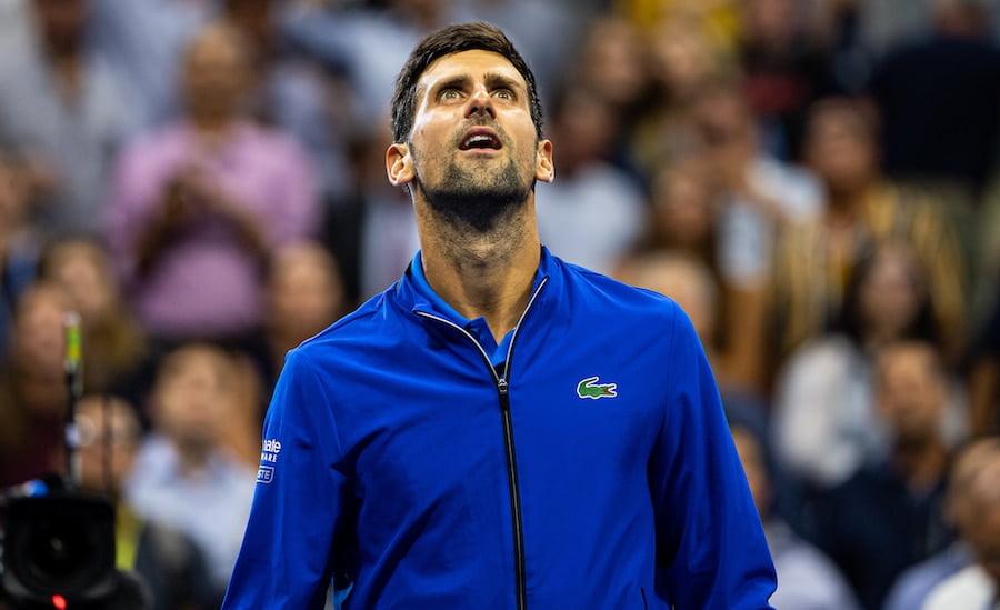 Novak Djokovic looks to sky at US Open 2019