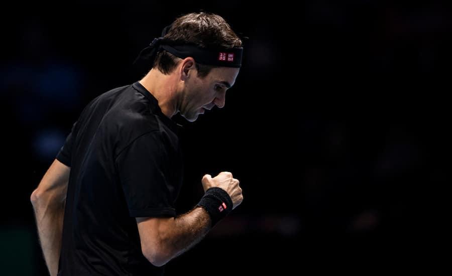 Roger Federer clenched fist
