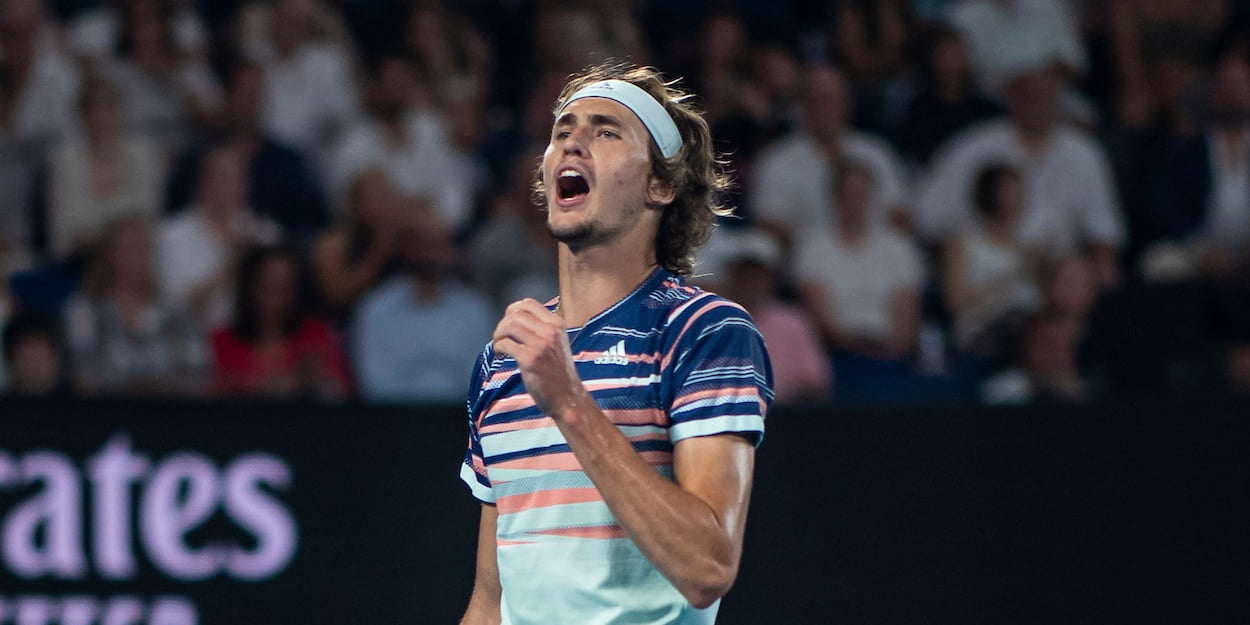 Alexander Zverev at the 2020 Australian Open