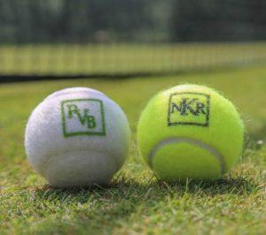 Monogrammed tennis balls