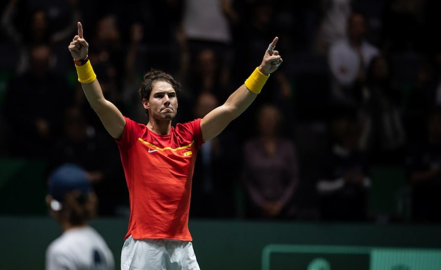Rafa Nadal celebrates winning Davis Cup 2019