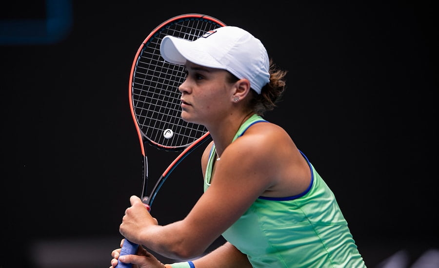 Ashleigh Barty looking on