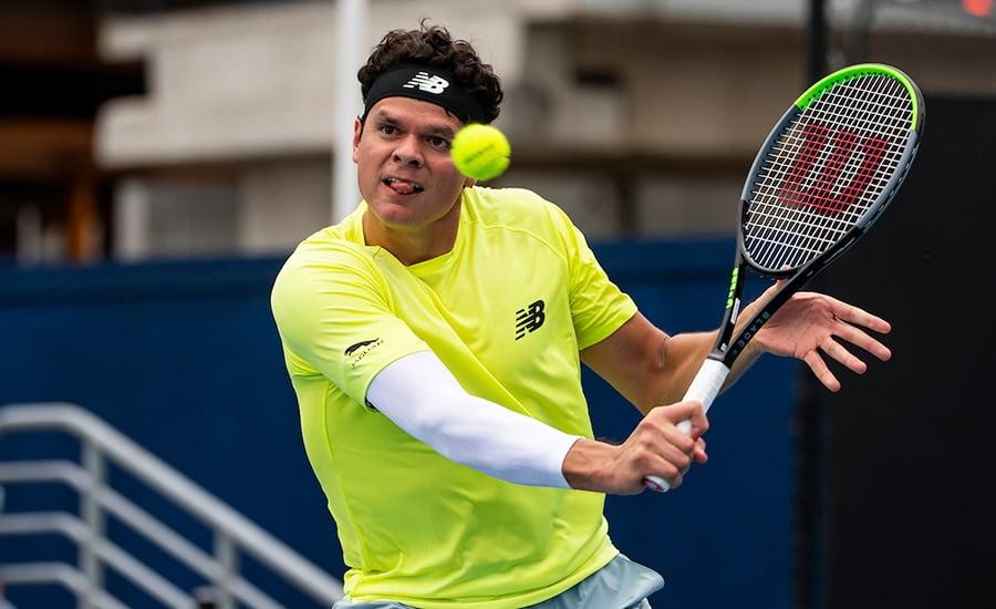 Milos Raonic at Australian Open