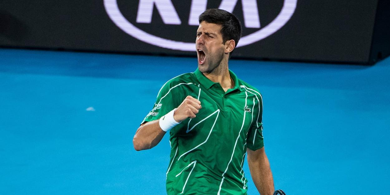 Novak Djokovic celebrating at Australian Open 1250x625