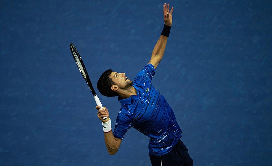 Novak Djokovic serve
