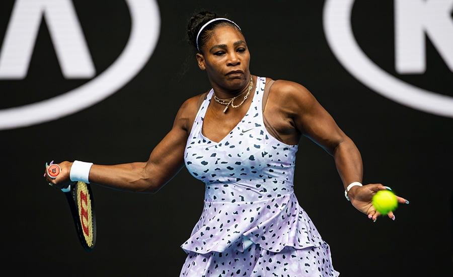 Serena Williams forehand at Australian Open