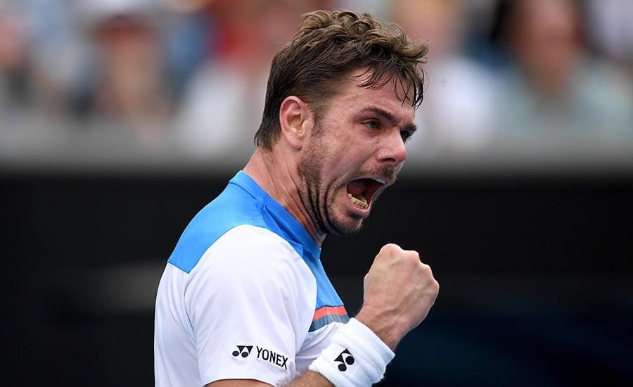 Stan Wawrinka roars at Australian Open