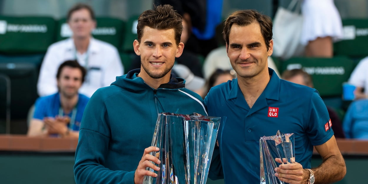 Dominic Thiem Roger Federer Indian Wells 2019