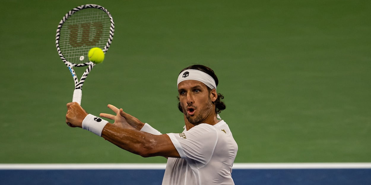 Feliciano Lopez US Open 2019 backhand volley