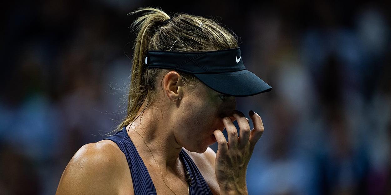 Maria Sharapova emotional