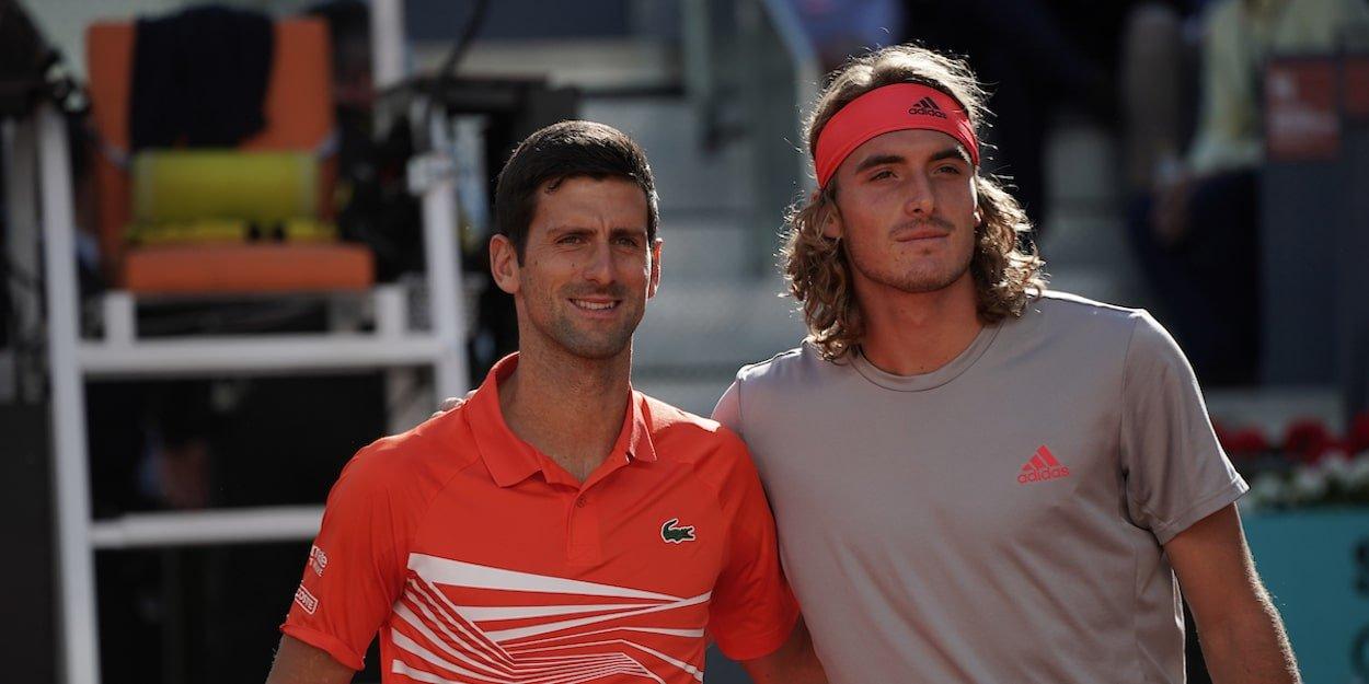 Novak Djokovic Stefanos Tsitsipas Madrid Open 2019 final