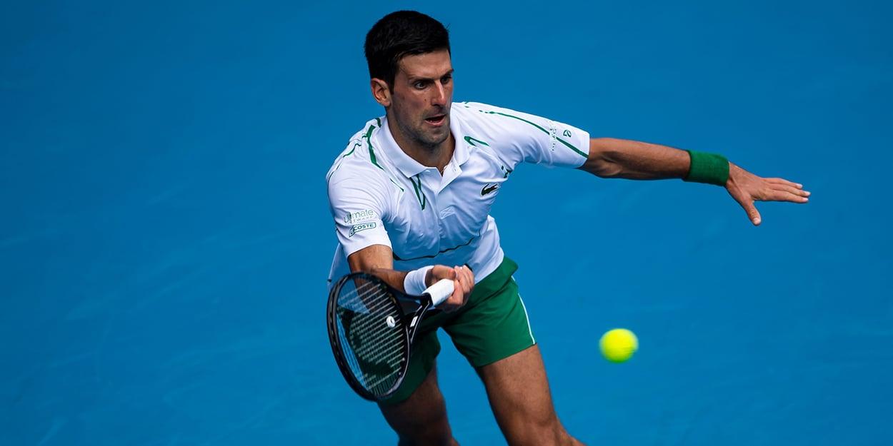 Novak Djokovic on the stretch