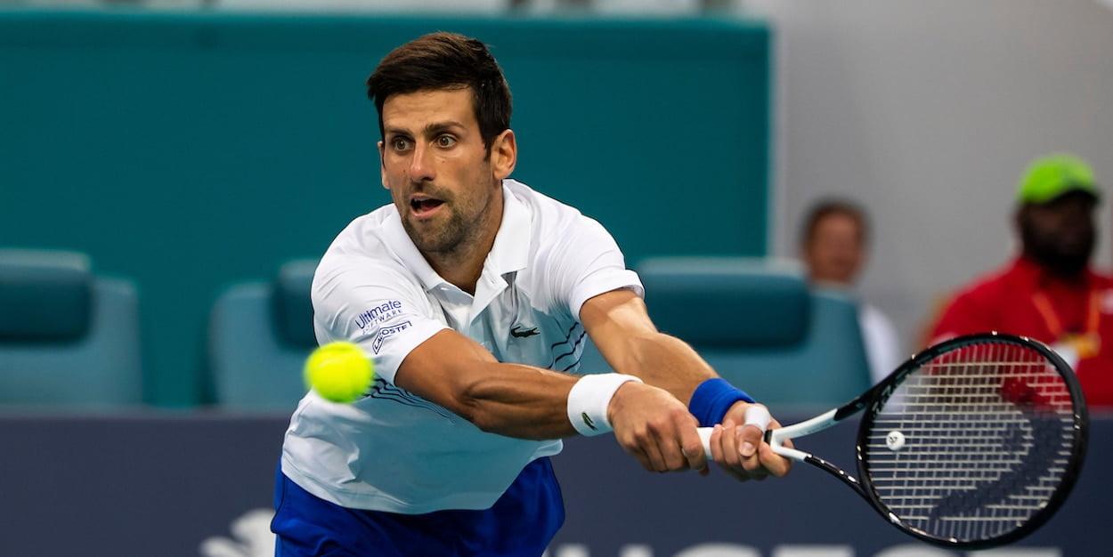 Novak Djokovic plays Miami Open 2019