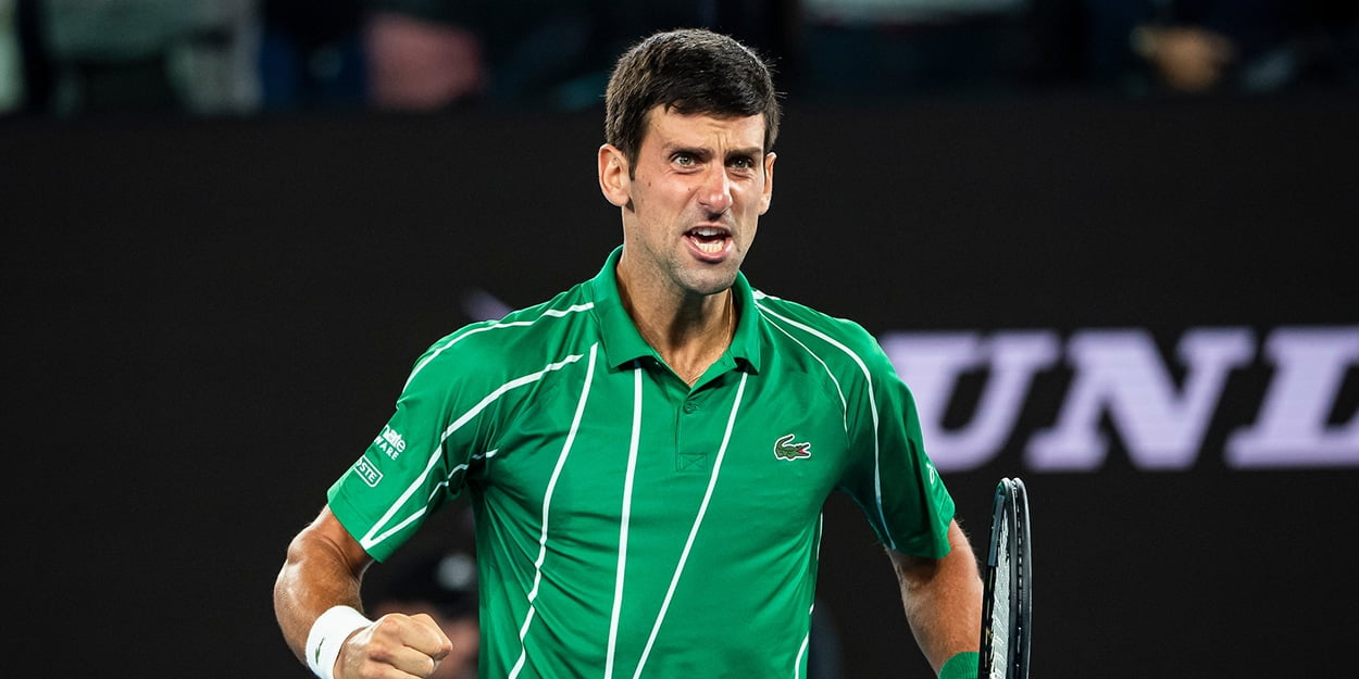 Novak Djokovic pumped up in Australian Open