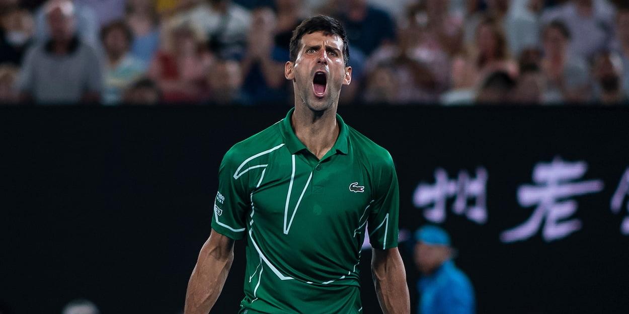 Novak Djokovic roars at Australian Open