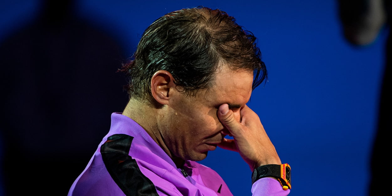Rafael Nadal crying
