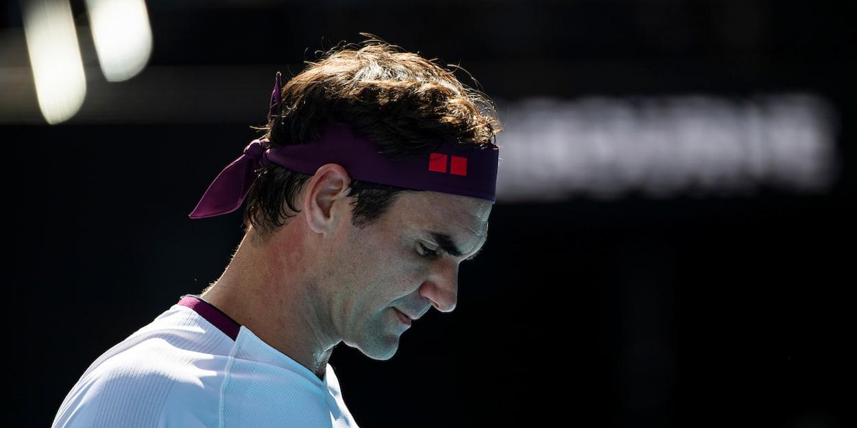 Roger Federer knee