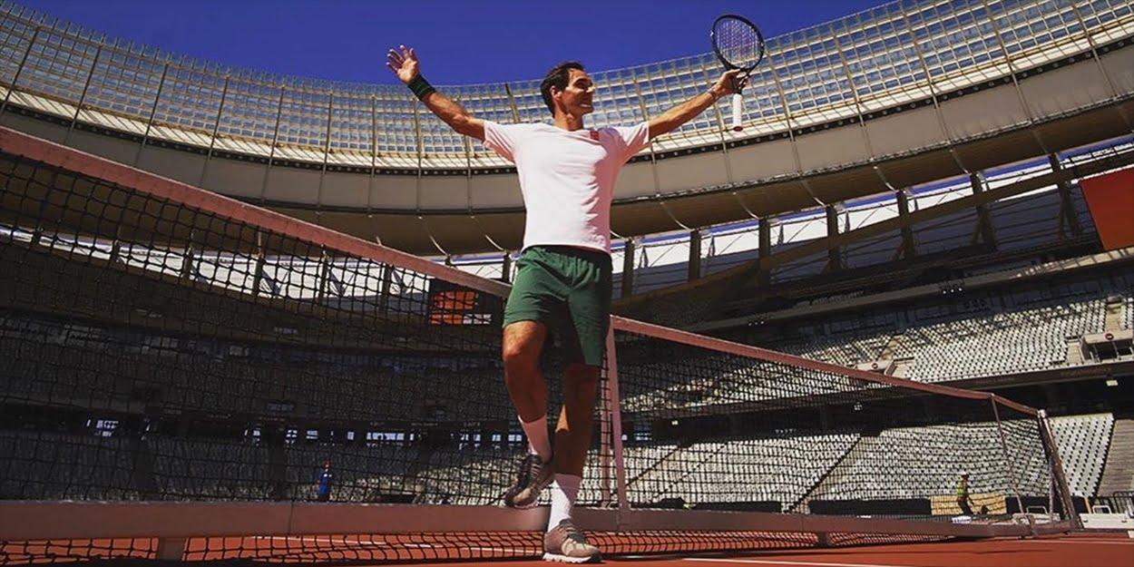 Roger Federer on Match In Africa court