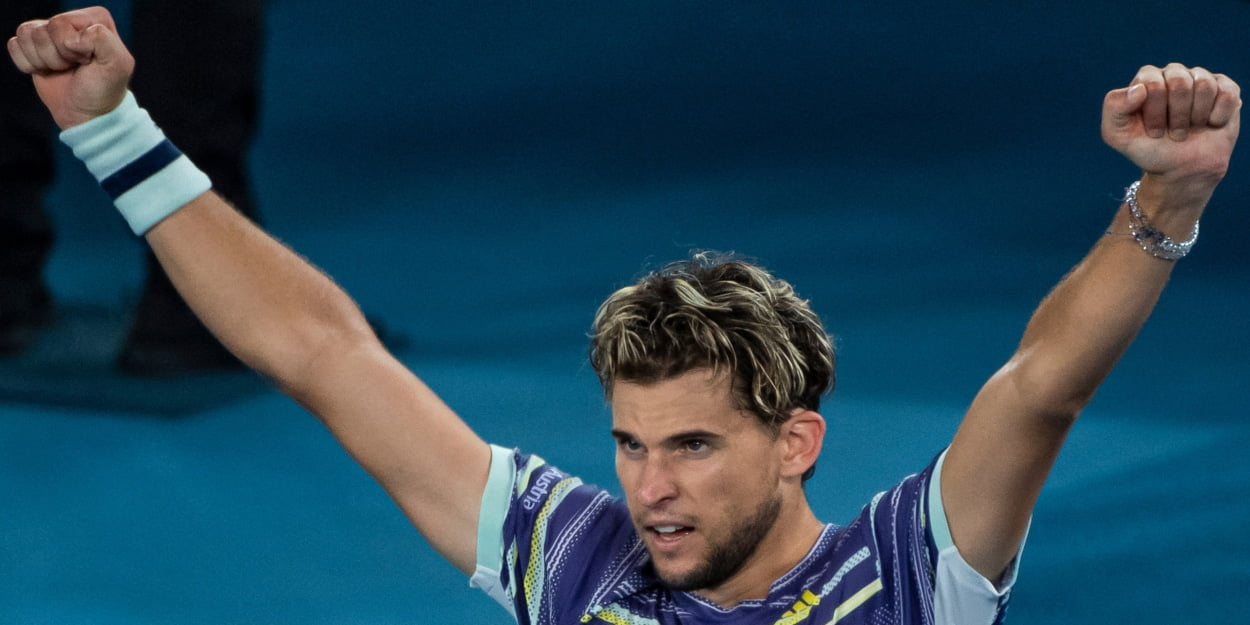 Dominic Thiem at the 2020 Australian Open