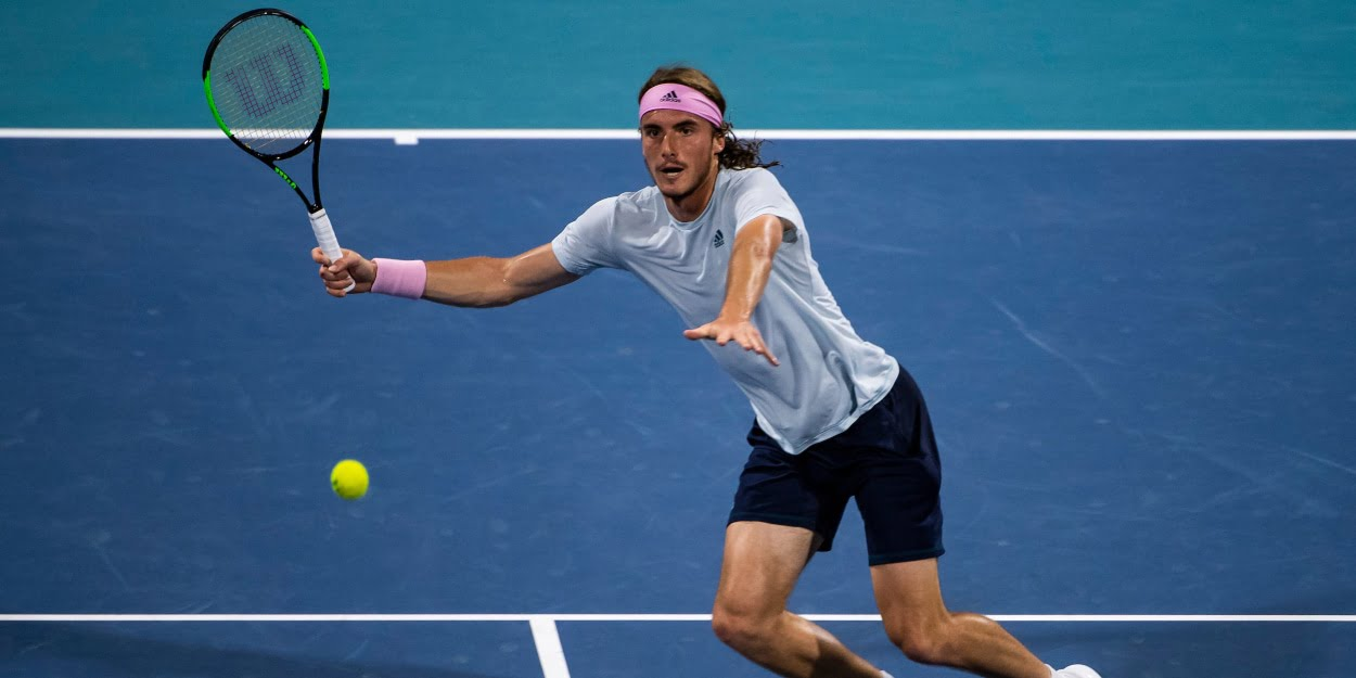 Stefanos Tsitsipas at the 2019 Miami Open