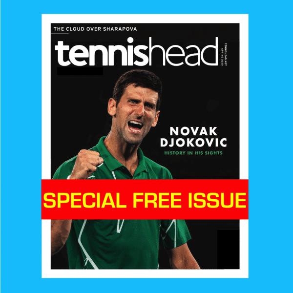 FREE tennishead print magazine March 2020