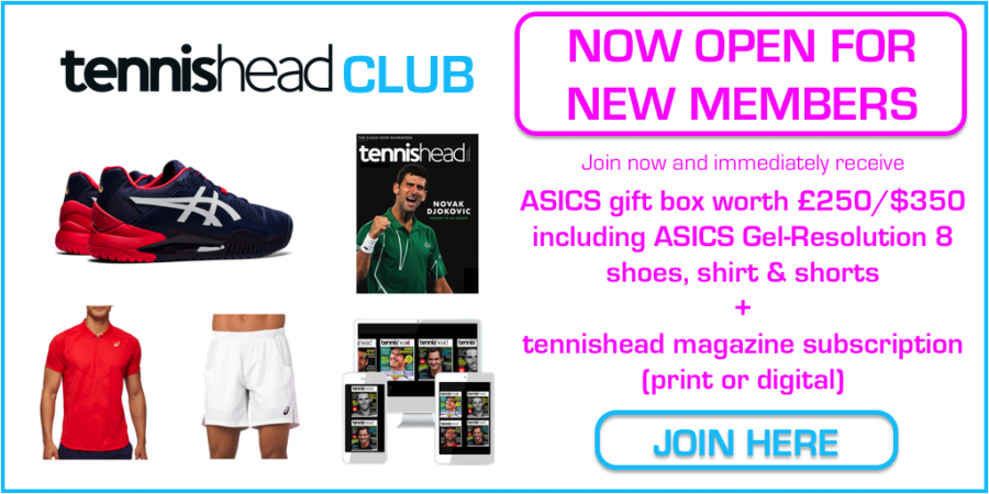 tennishead club homepage advert