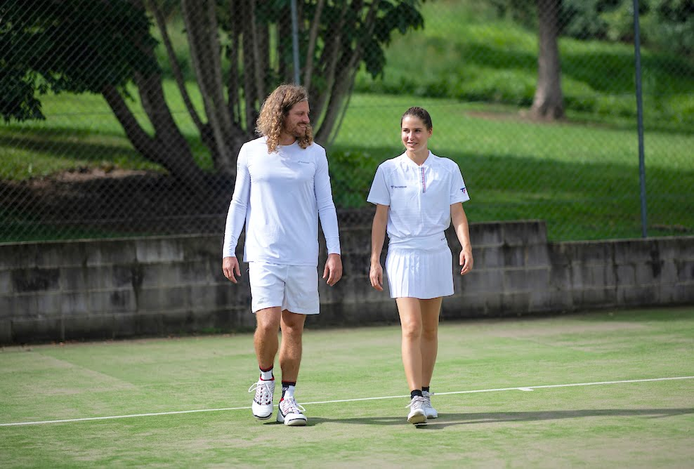 tennis clothing mens and womens white Babolat and Tecnifibre