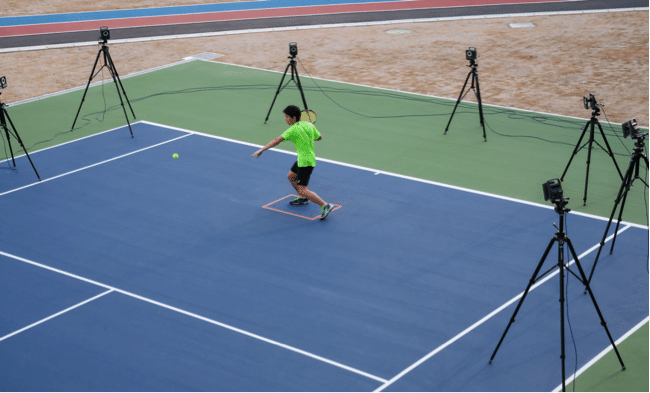 ASICS Institute of Sports Science tennis shoe testing