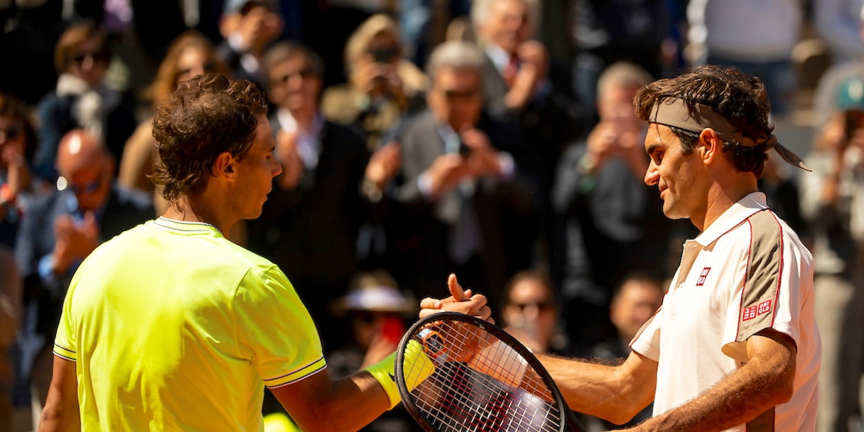 French Open Nadal Federer 2019 shake hands
