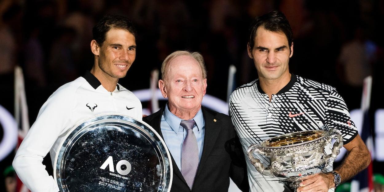 Rafa Nadal Roger Federer Rod Laver