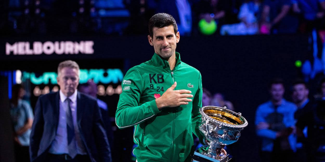 Novak Djokovic 2020 Australian Open champion