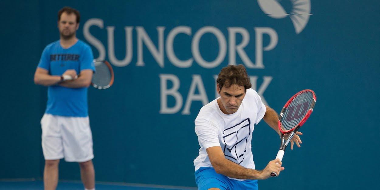 Roger Federer practise