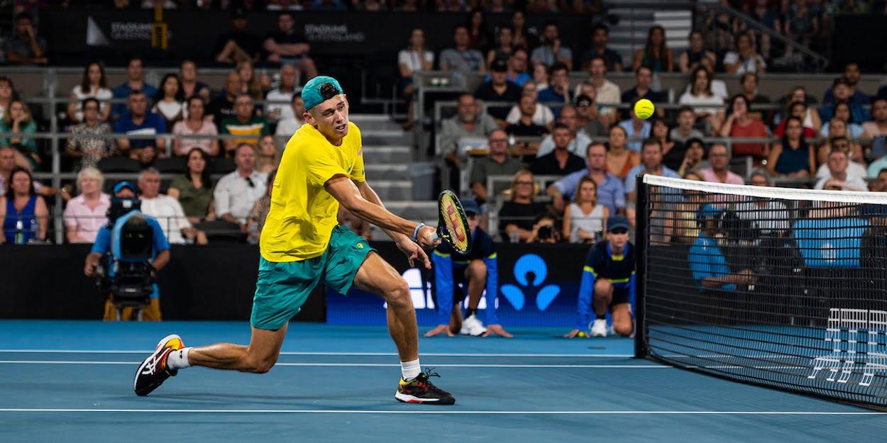 Alex de Minaur volley ATP Cup 2020