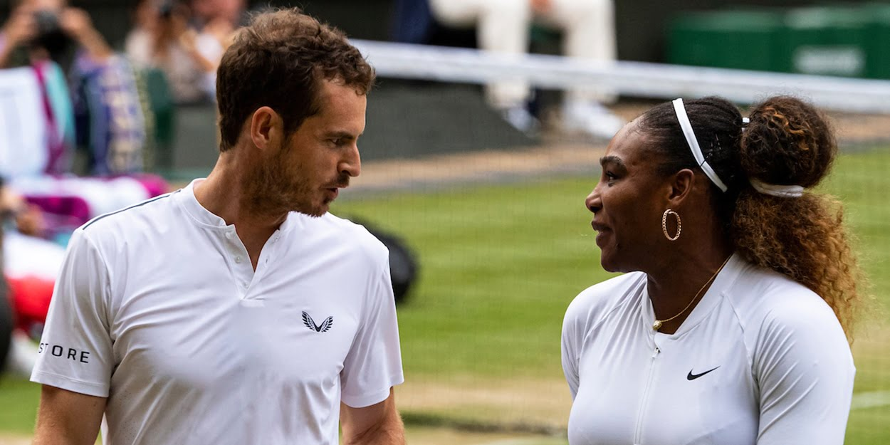 Andy Murray and Serena Williams at Wimbledon
