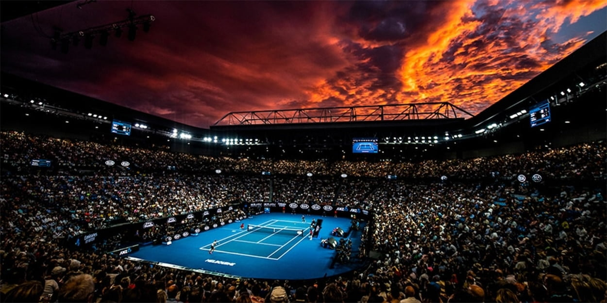 Australian Open sunset