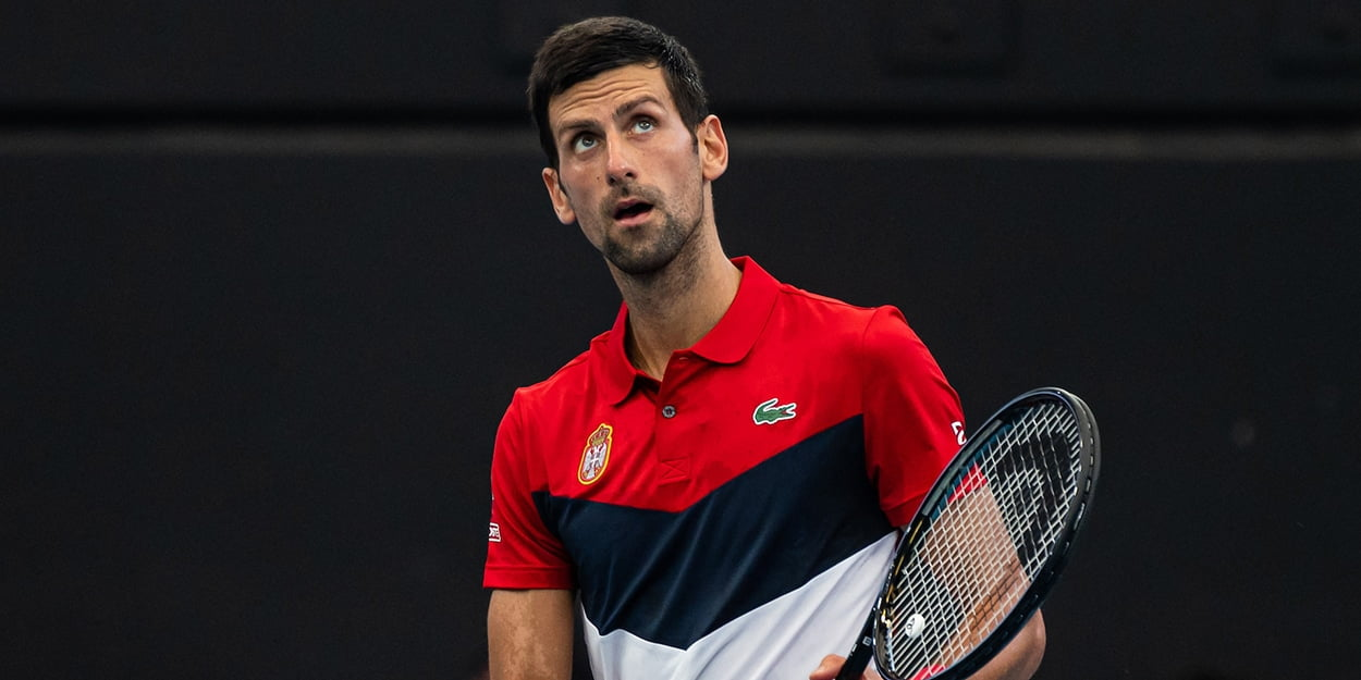 Novak Djokovic at ATP Cup