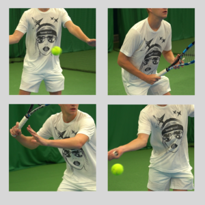 Tennishead T-shirts Face action