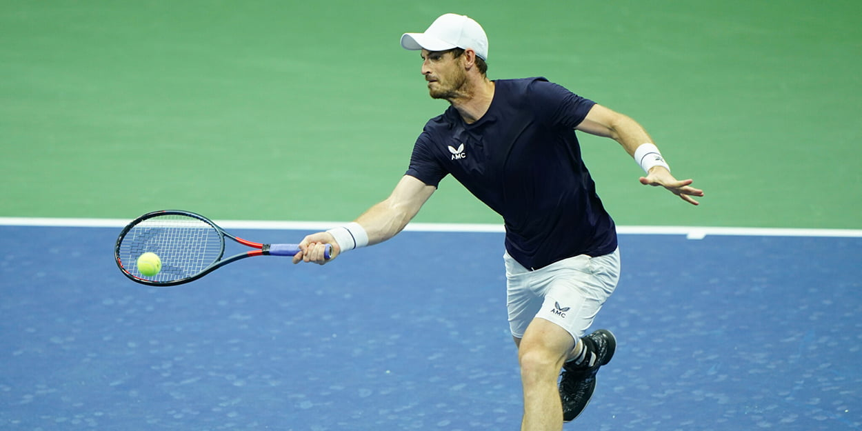 Andy Murray in action at US Open