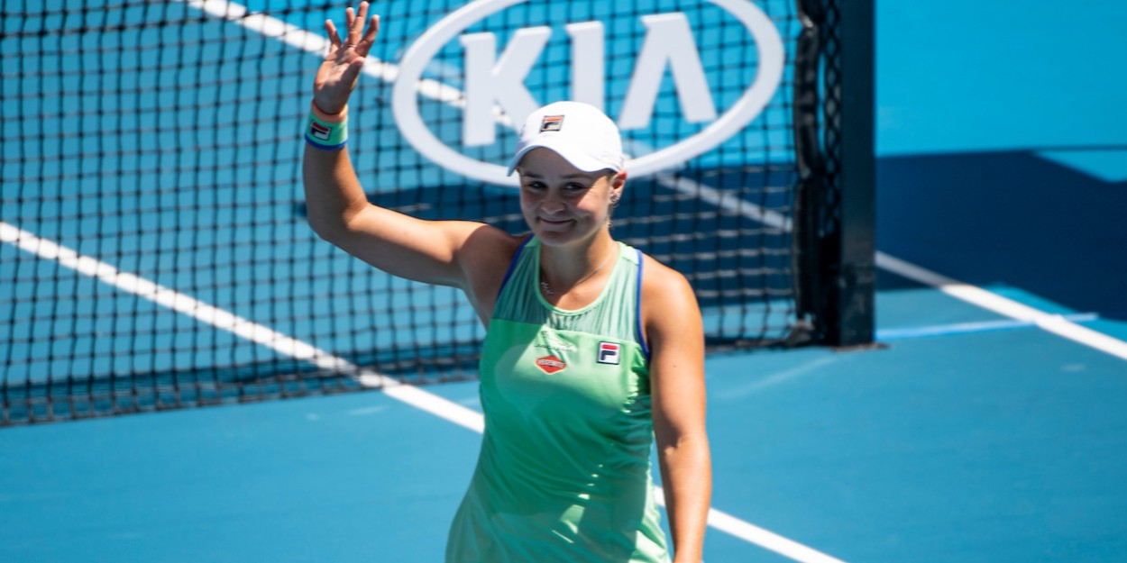 WTA star Ashleigh Barty waving