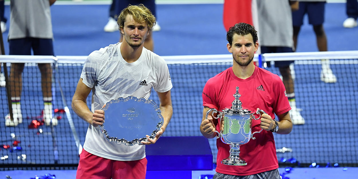 Dominic Thiem and Alexander Zverev - Roger Federer Nadal Djokovic absence affected US Open final