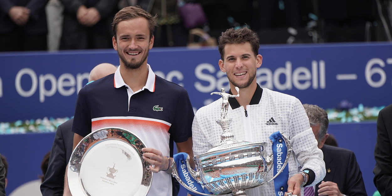 Dominic Thiem and Daniil Medvedev Barcelona final