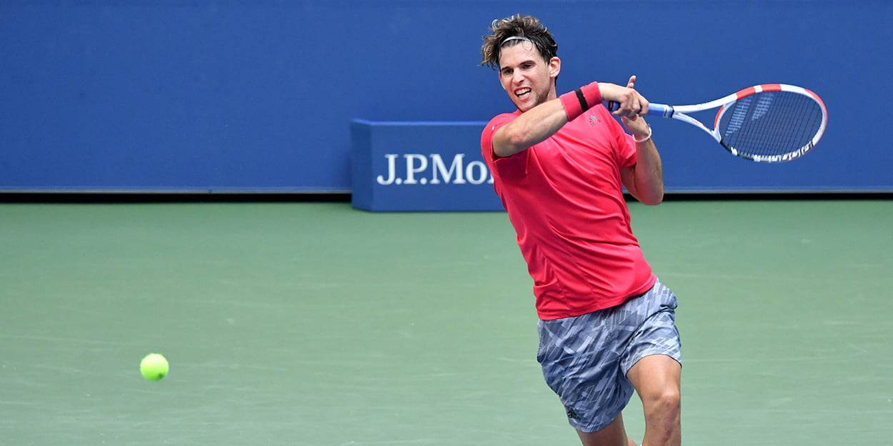 Dominic Thiem forehand US Open