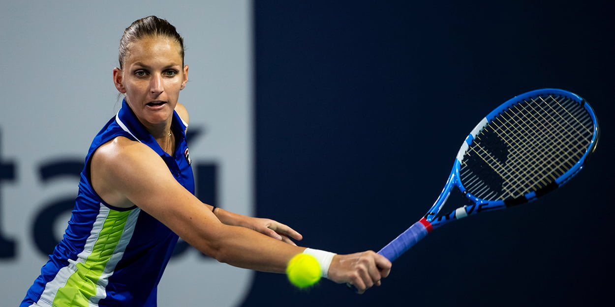 Karolina Pliskova backhand