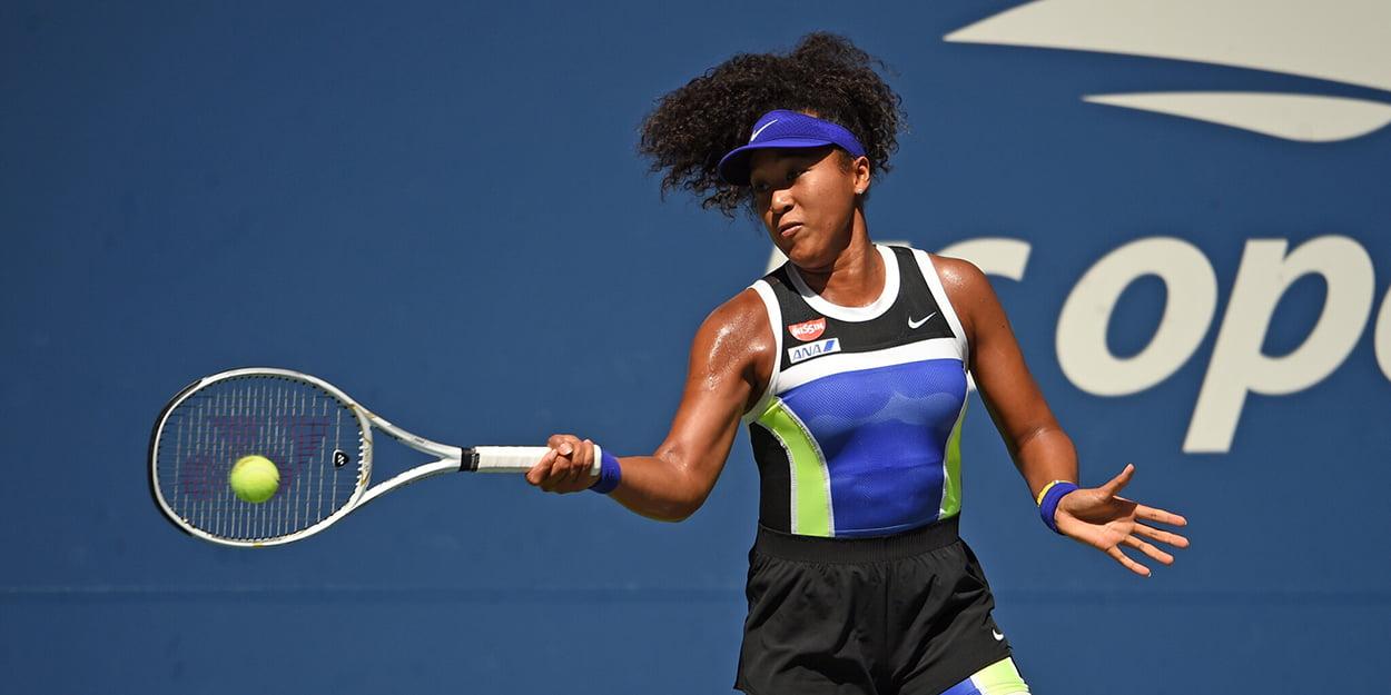 Naomi Osaka forehand US Open