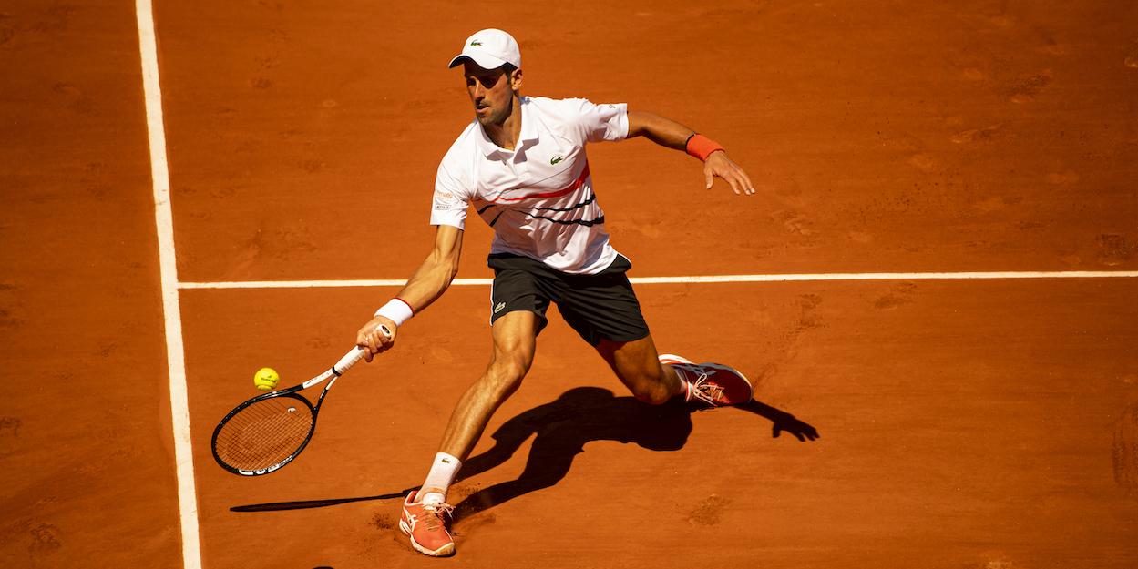 Novak Djokovic Forehand Clay Court 2019