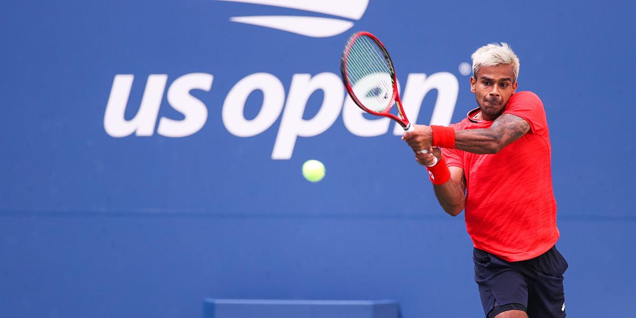 Sumit Nagal backhand at US Open