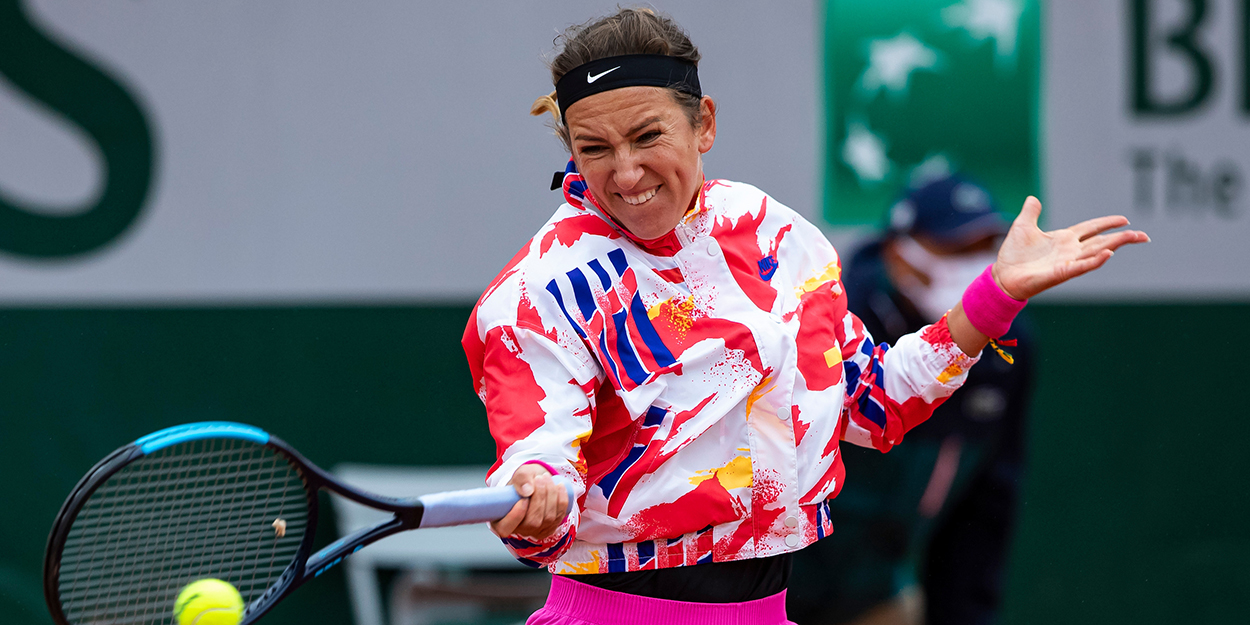 Victoria Azarenka forehand at Roland Garros