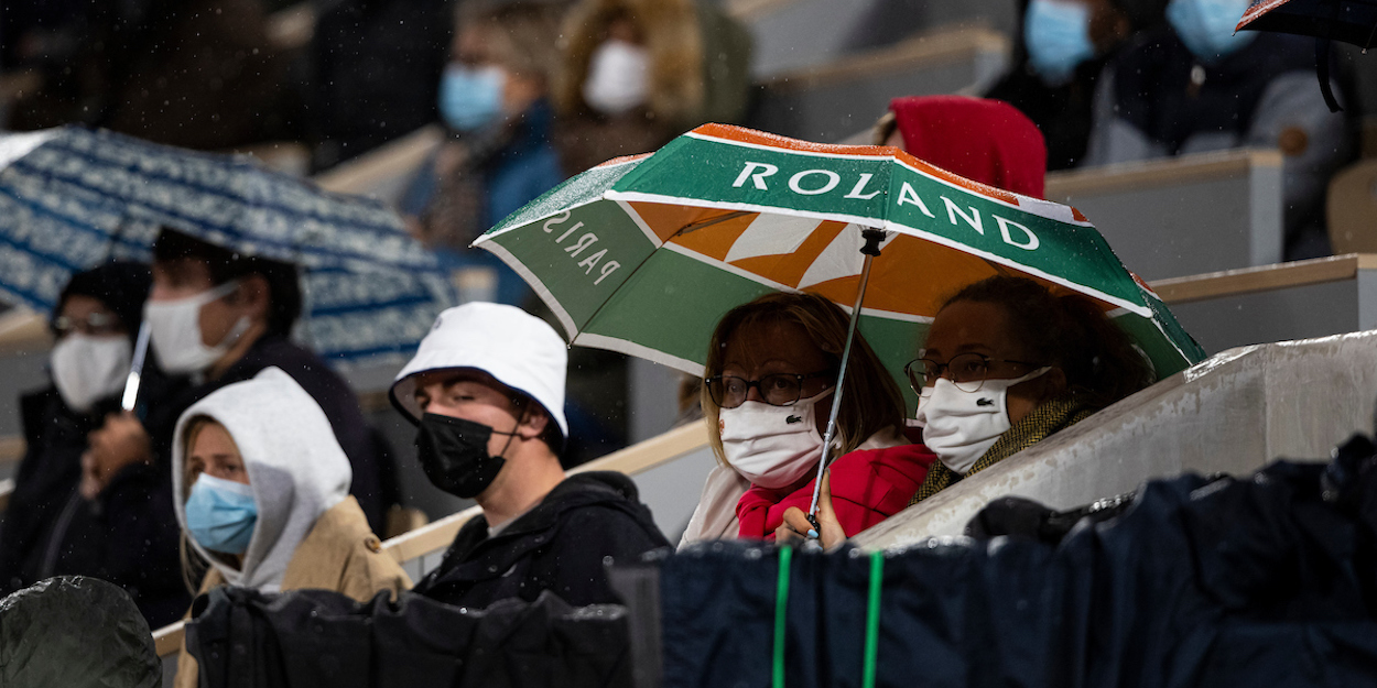 French Open raining with masks