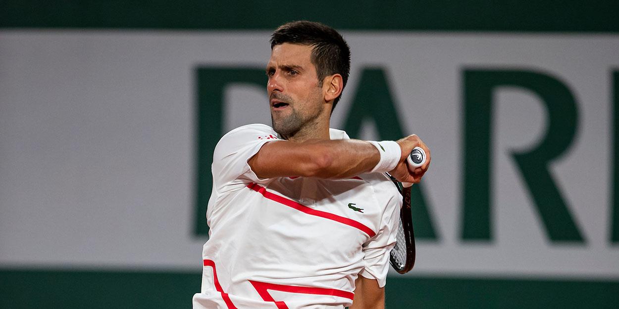 Novak Djokovic forehand Roland Garros