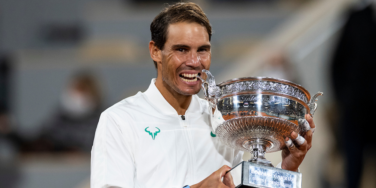 Rafa Nadal with French Open 2020 trophy